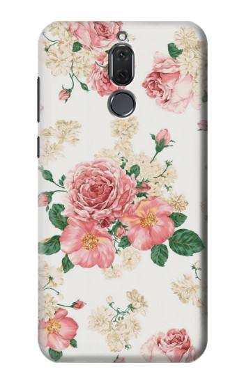 Printed Rose Pattern Huawei Mate 10 Lite Case