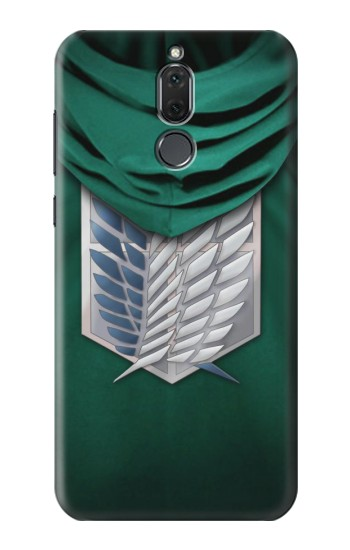 Printed Attack on Titan Scouting Legion Rivaille Green Cloak Huawei Mate 10 Lite Case