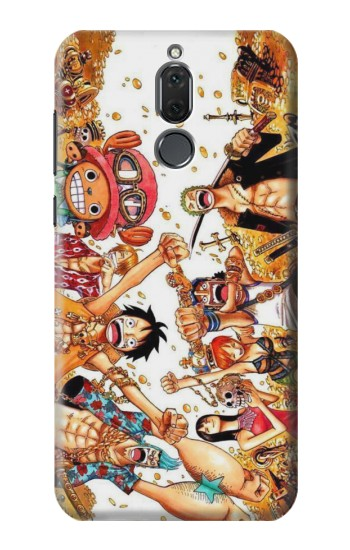 Printed One Piece Straw Hat Luffy Pirate Crew Huawei Mate 10 Lite Case