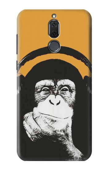 Printed Funny Monkey with Headphone Pop Music Huawei Mate 10 Lite Case