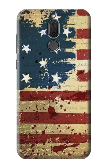 Printed Old American Flag Huawei Mate 10 Lite Case