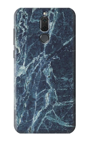 Printed Light Blue Marble Stone Texture Printed Huawei Mate 10 Lite Case