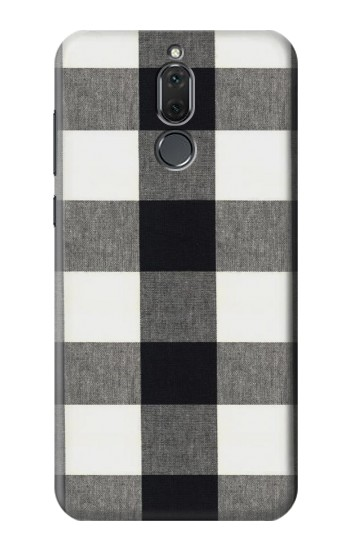 Printed Black and White Buffalo Check Pattern Huawei Mate 10 Lite Case