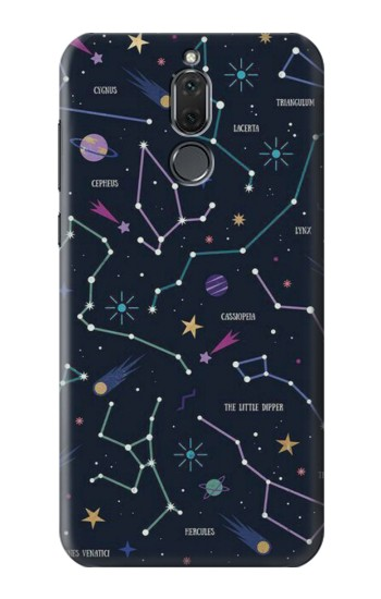 Printed Star Map Zodiac Constellations Huawei Mate 10 Lite Case