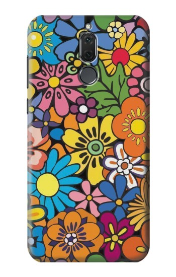 Printed Colorful Flowers Pattern Huawei Mate 10 Lite Case