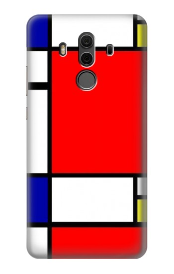 Printed Composition Red Blue Yellow Huawei Mate 10 Pro, Porsche Design Case