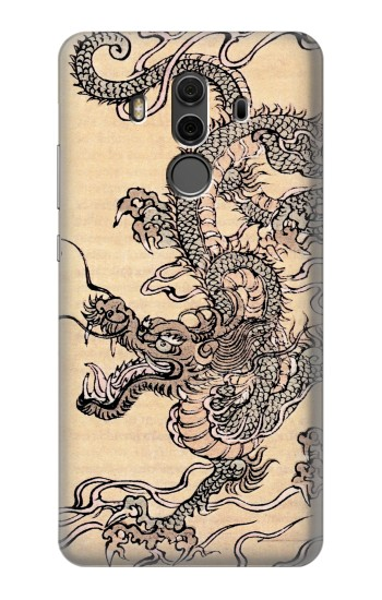 Printed Antique Dragon Huawei Mate 10 Pro, Porsche Design Case