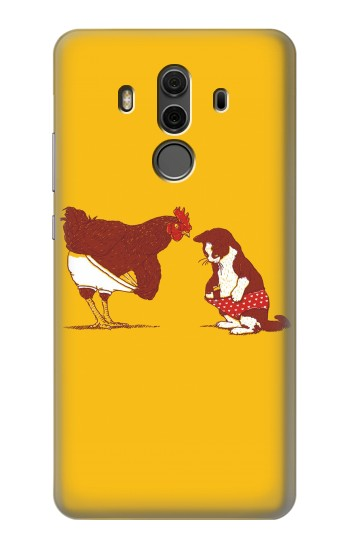 Printed Rooster and Cat Joke Huawei Mate 10 Pro, Porsche Design Case