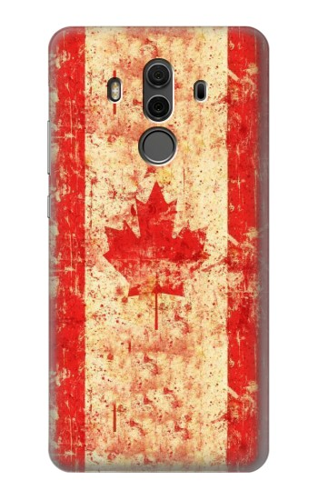 Printed Canada Flag Old Vintage Huawei Mate 10 Pro, Porsche Design Case