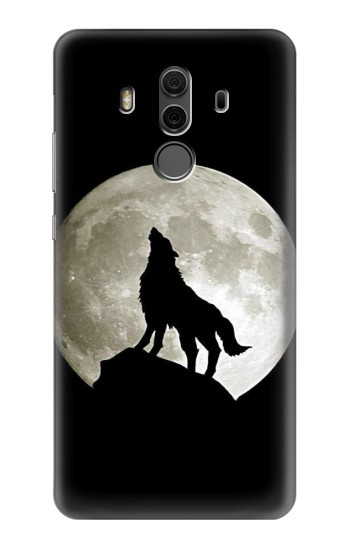 Printed Wolf Howling at The Moon Huawei Mate 10 Pro, Porsche Design Case