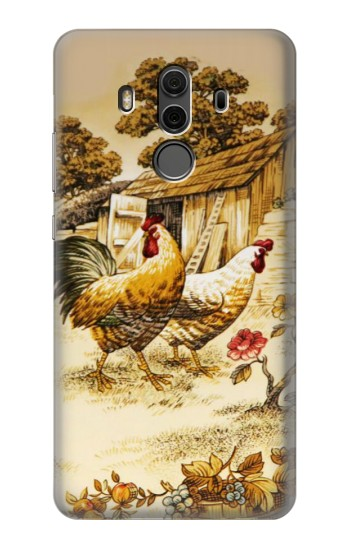 Printed French Country Chicken Huawei Mate 10 Pro, Porsche Design Case
