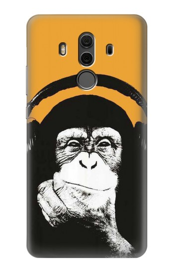 Printed Funny Monkey with Headphone Pop Music Huawei Mate 10 Pro, Porsche Design Case