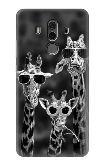Printed Giraffes With Sunglasses Huawei Mate 10 Pro, Porsche Design Case
