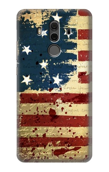 Printed Old American Flag Huawei Mate 10 Pro, Porsche Design Case