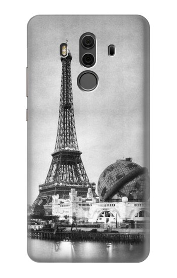 Printed Old Paris Eiffel Tower Huawei Mate 10 Pro, Porsche Design Case