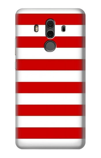 Printed Red and White Striped Huawei Mate 10 Pro, Porsche Design Case