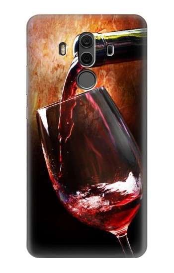 Printed Red Wine Bottle And Glass Huawei Mate 10 Pro, Porsche Design Case