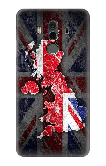 Printed UK British Flag Map Huawei Mate 10 Pro, Porsche Design Case