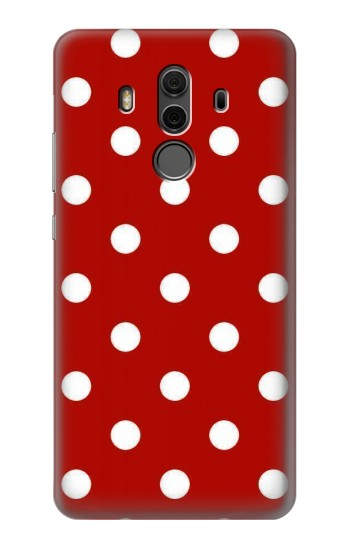 Printed Red Polka Dots Huawei Mate 10 Pro, Porsche Design Case