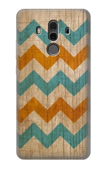 Printed Vintage Wood Chevron Huawei Mate 10 Pro, Porsche Design Case