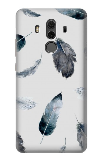 Printed Feather Paint Pattern Huawei Mate 10 Pro, Porsche Design Case