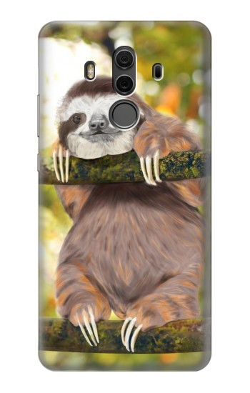 Printed Cute Baby Sloth Paint Huawei Mate 10 Pro, Porsche Design Case