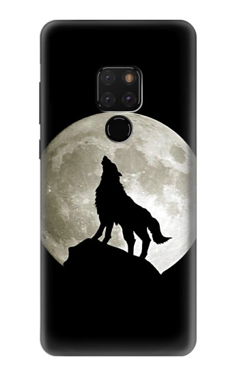 Printed Wolf Howling at The Moon Huawei Mate 20 Case