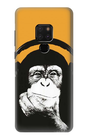 Printed Funny Monkey with Headphone Pop Music Huawei Mate 20 Case