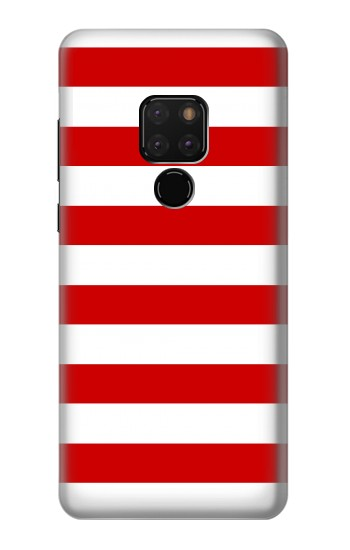 Printed Red and White Striped Huawei Mate 20 Case