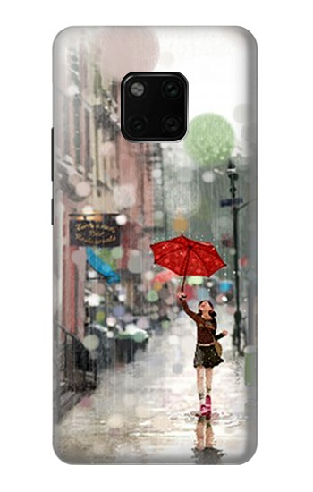 Printed Girl in The Rain Huawei Mate 20 Pro Case