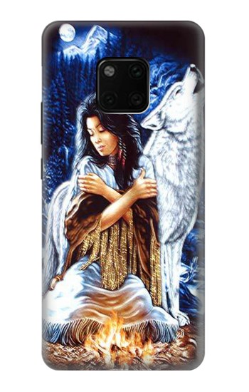 Printed Grim Wolf Indian Girl Huawei Mate 20 Pro Case