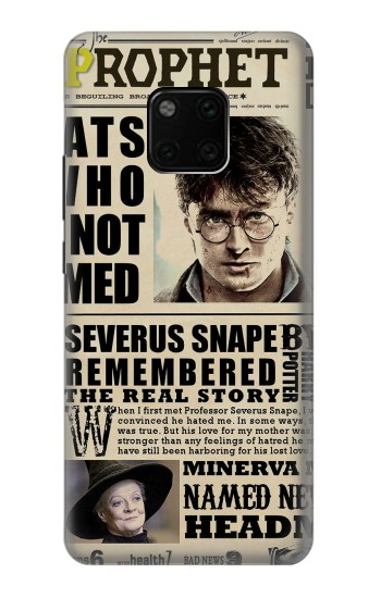Printed Harry Potter Daily Prophet Huawei Mate 20 Pro Case
