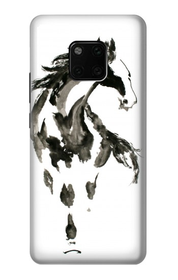 Printed Horse Paintbrush Huawei Mate 20 Pro Case