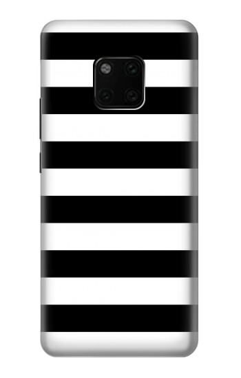 Printed Black and White Striped Huawei Mate 20 Pro Case