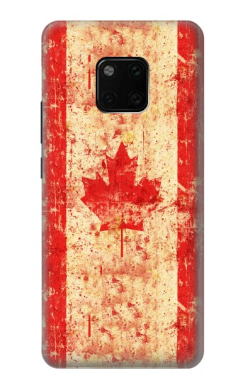 Printed Canada Flag Old Vintage Huawei Mate 20 Pro Case