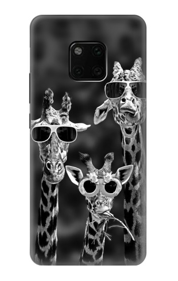 Printed Giraffes With Sunglasses Huawei Mate 20 Pro Case