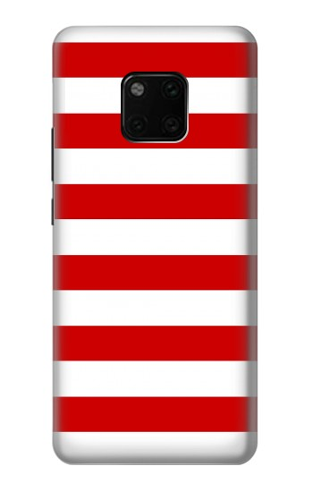 Printed Red and White Striped Huawei Mate 20 Pro Case