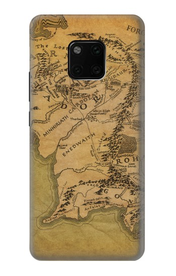 Printed The Lord Of The Rings Middle Earth Map Huawei Mate 20 Pro Case