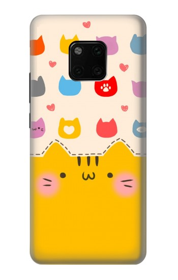 Printed Cute Cat Pattern Huawei Mate 20 Pro Case
