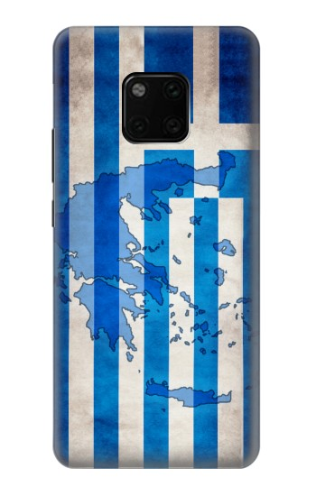 Printed Greece Map Flag Huawei Mate 20 Pro Case