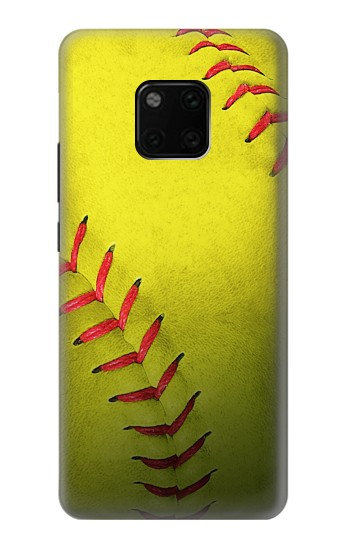 Printed Yellow Softball Ball Huawei Mate 20 Pro Case