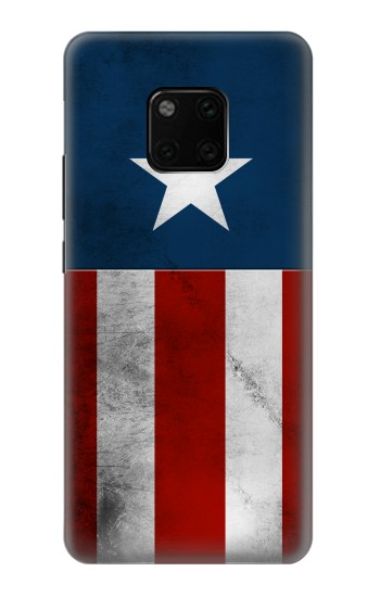 Printed Captain Star Flag of America Huawei Mate 20 Pro Case