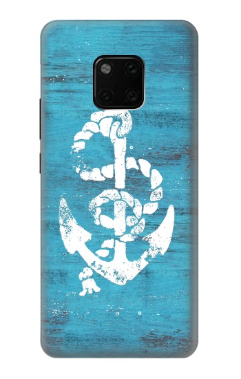 Printed Marine Anchor Blue Wooden Huawei Mate 20 Pro Case