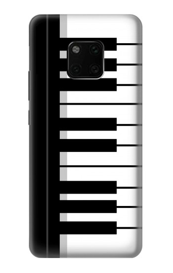 Printed Black and White Piano Keyboard Huawei Mate 20 Pro Case
