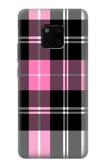 Printed Pink Plaid Pattern Huawei Mate 20 Pro Case