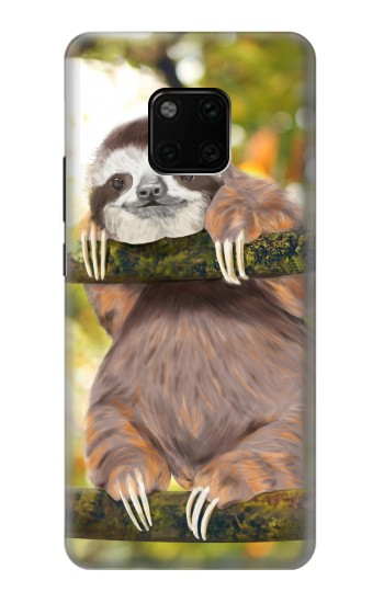 Printed Cute Baby Sloth Paint Huawei Mate 20 Pro Case