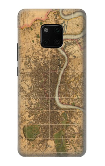 Printed Vintage Map of London Huawei Mate 20 Pro Case