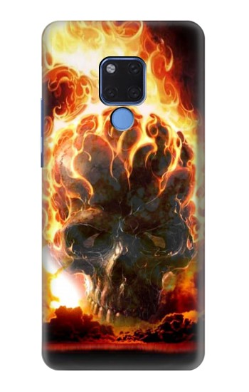 Printed Hell Fire Skull Huawei Mate 20 X Case