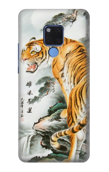 Printed Chinese Tiger Painting Tattoo Huawei Mate 20 X Case