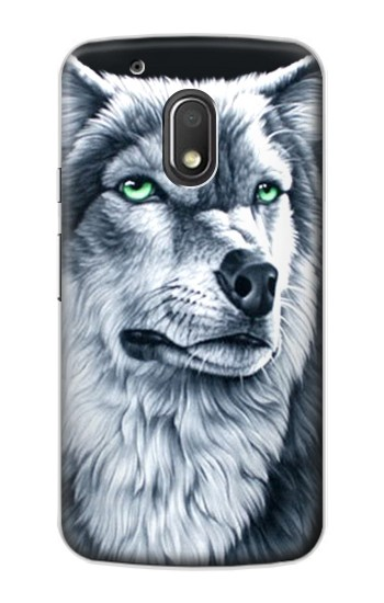 Printed Grim White Wolf Motorola Droid Turbo 2 / X Force Case